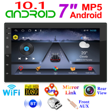 7784AD Android 10.1 2DIN Autoradio Quad Core 1Gb + 16Gb Multimedia Video Player Gps Wifi Bluetooth Aux auto Stereo Achteruitrijcamera