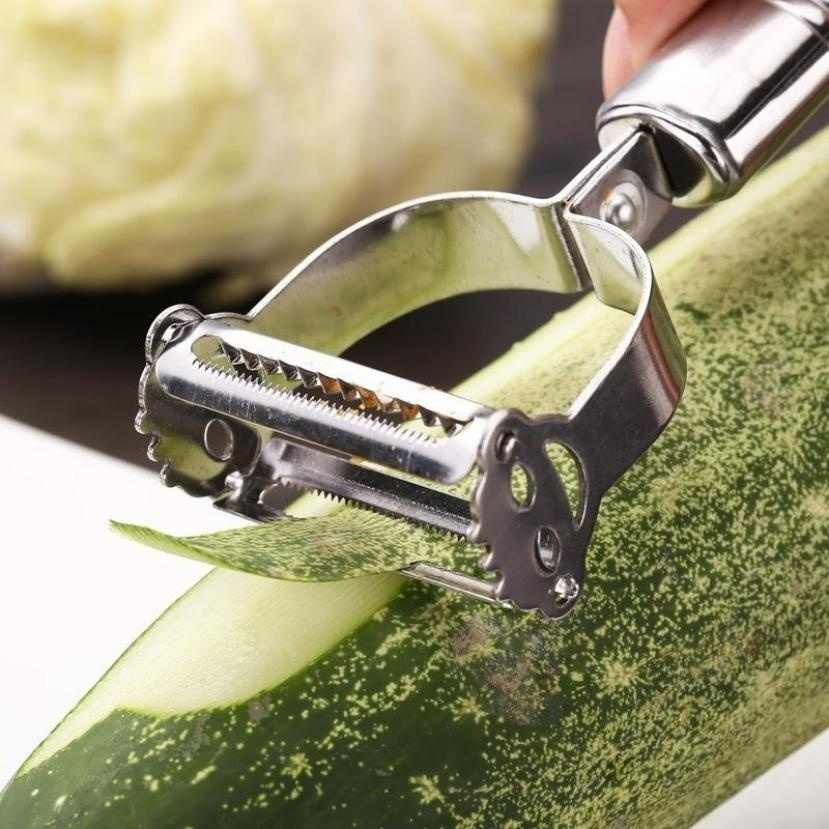 Rallador de patatas de acero inoxidable de alta calidad, zanahoria pepino, pelador en juliana, verduras, rebanador de fruta pelador vegetal