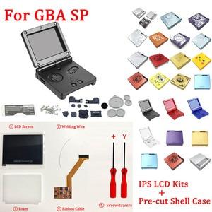 Image 1 - Ips V2 Lcd Kit con Il Caso di Shell per Gba Sp Ips Retroilluminazione Dello Schermo Lcd con Pre Cut di Shell per gbasp Console Custodia con Pulsanti