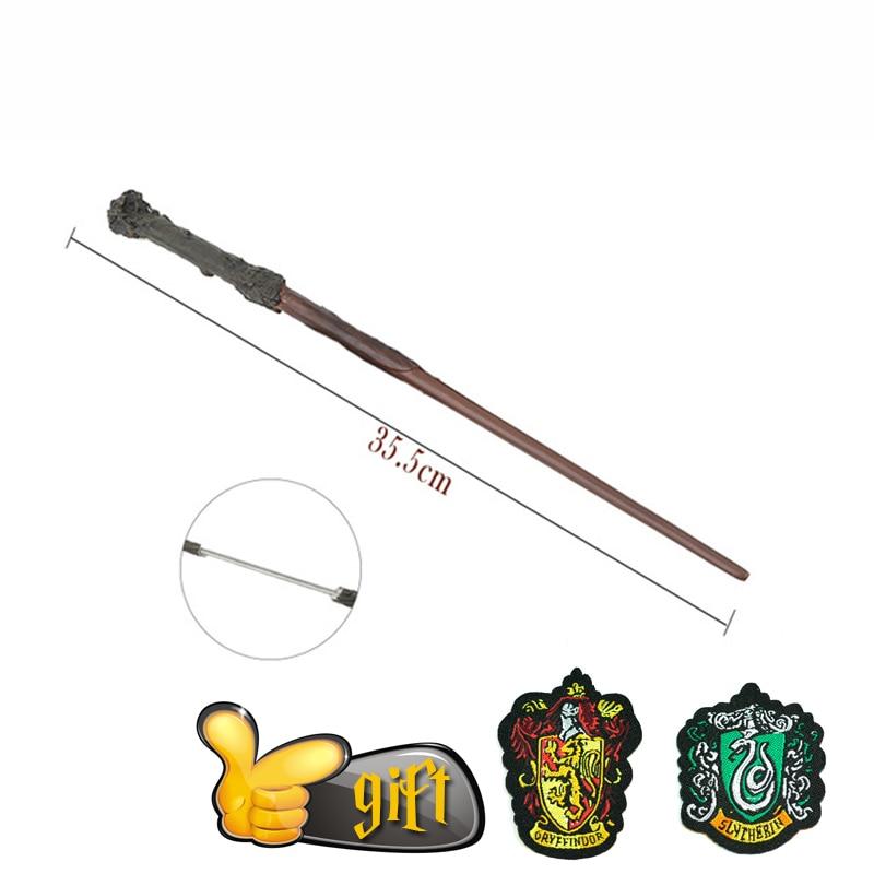 27 Species Potter Wands Colsplay Metal/Iron Core Dumbledore Luna Wand Kid Magic Wand No Box With Gift Potter Prop