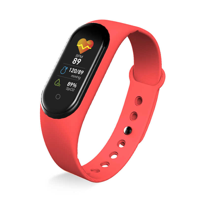 M5 Astuto Della Vigilanza FitnessTracker Chiamata Gioco di Musica Smartband Braccialetto Intelligente di Pressione Sanguigna Monitor di Frequenza Cardiaca Smart Wristband Della Fascia