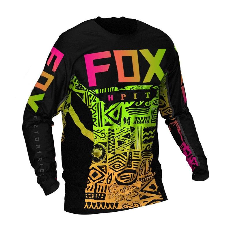 2020 Мужская MTB Джерси DH для мотокросса Джерси внедорожный горный велосипед Горные Джерси MX BMX Велоспорт Джерси hpit fox Джерси trek Bike