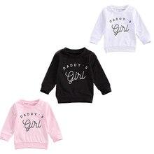 Outwear Hoodies Sweatshirt Baby-Girls Kids Toddler Letter 3-Colors Long-Sleeve DADDY