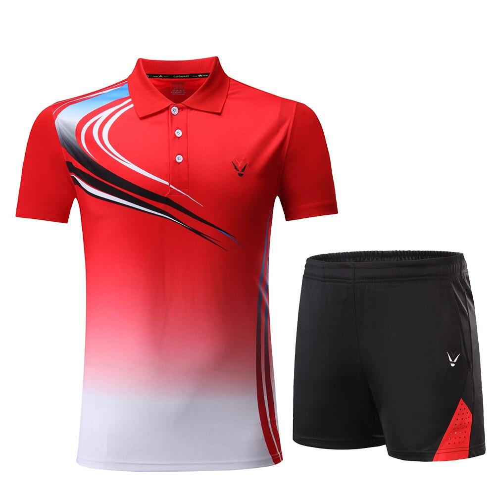Детские комплекты для бадминтона для мальчиков и девочек красный костюм для бадминтона для девочек быстросохнущая рубашка для бадминтона Униформа командные спортивные комплекты, шорты, одежда, 3862 - Цвет: 3862 Red