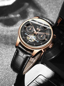 Domnilor ceasuri automate mecanice-ceasuri de mână de afaceri-sport impermeabil bărbați de brand
