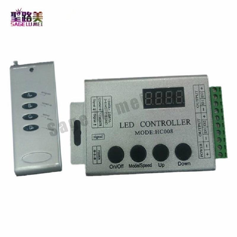 HC008 Magic Dream Color RF 133 effect modes 4Keys RF Remote RGB LED Controller DC12V WS2811 1903 DC5V-24V For LED Strip Lighting