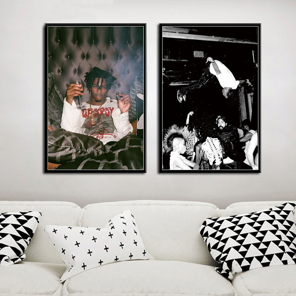 Printed Canvas Wall Art Modular Posters HD Modern Playboi Carti Popular Music Album Hip Hop Rap Star Picture Home Decor Painting image