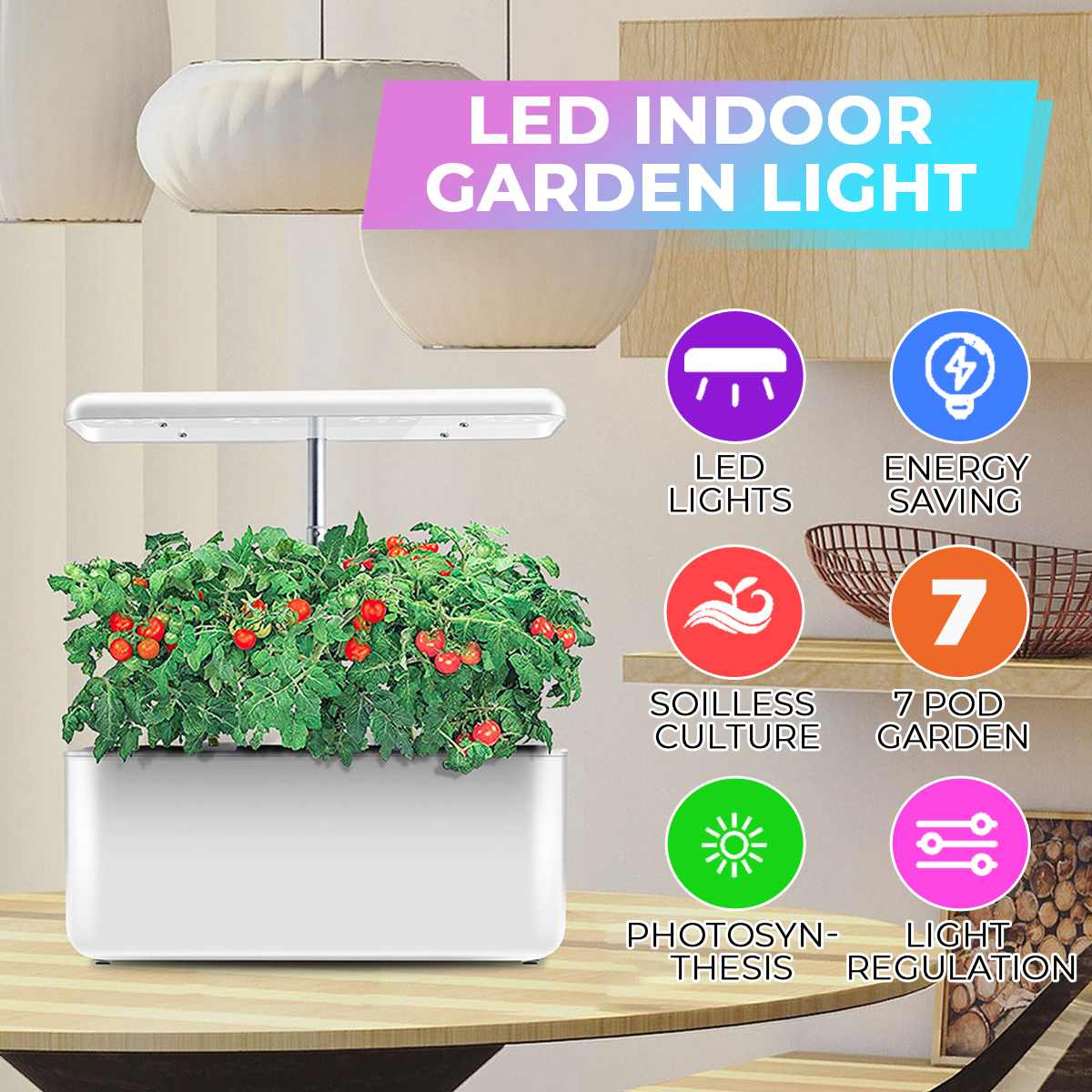 Ecoo Grower Indoor Plant Hydroponics Grow light Soilless Cultivation Plant Grow Light With Water-cycle System For Plant Nursery