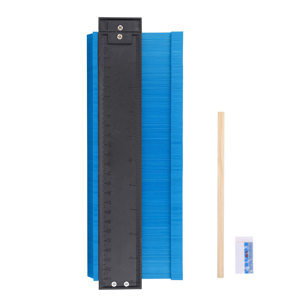 Contour Gauge 10inch Profile Copy Gauge Ruler Metric Inch Marking Gauge Shape Duplicator Tiling Laminate Measuring Tools #T3G