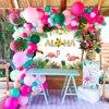 QIFU-Fondo de globo de decoración para fiesta hawaiana, suministros de fiesta de cumpleaños, Luau Aloha