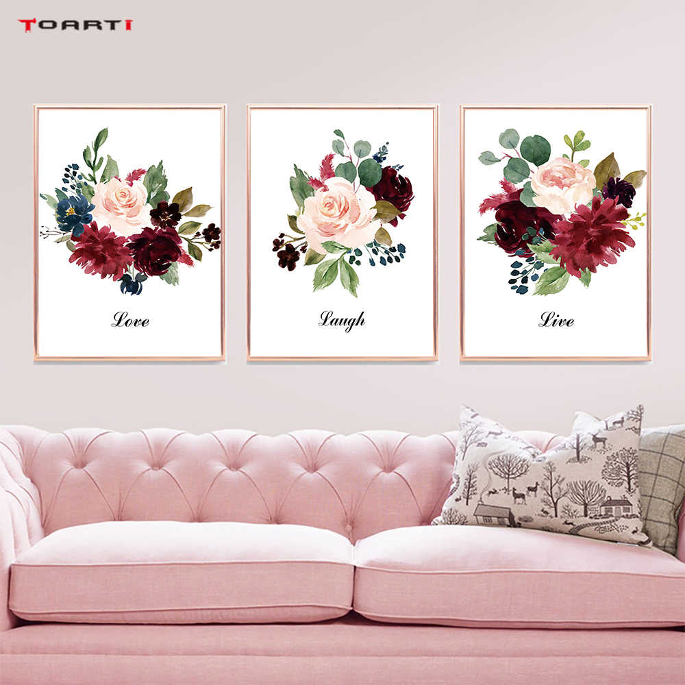 Watercolor Flowers Prints Posters Beautiful Natural Canvas Painting On The Wall For Living Room Home Decor Modern Art Pictures