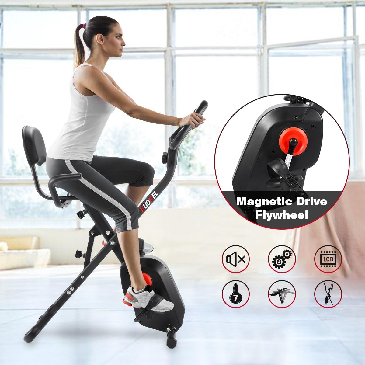 KUOKEL BGB106 3 8 Level Resistance X BIKE Folding Exercise Bike