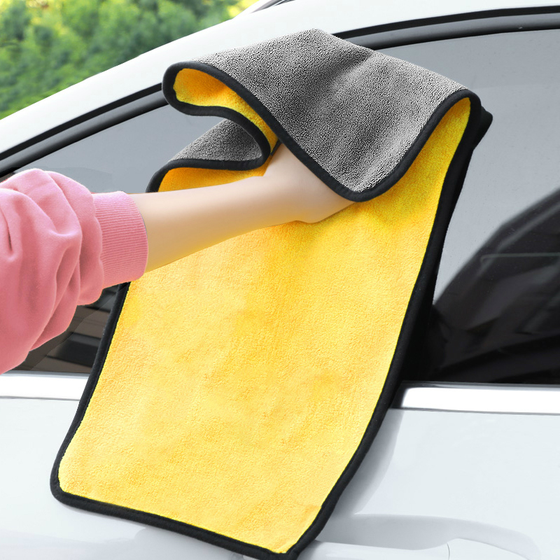 30x30/60CM Car Wash Microfiber Towel Car Cleaning Drying Cloth Hemming Car Care Cloth Detailing Car Wash Towel For Toyota