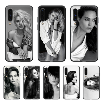 Celebrity Angelina Jolie beauty Phone case hull For Samsung Galaxy A 50 51 20 71 70 40 30 10 E 4G S black Etui fashion image