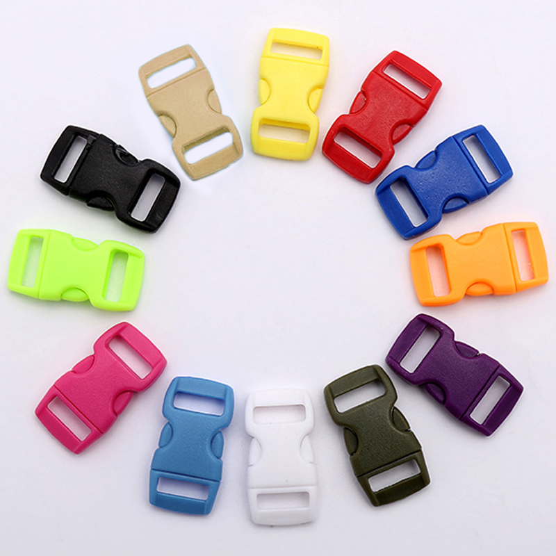 1cm Colorful Curved Side Release Buckle Clasps For  Bracelet Backpacks Clothes Mini Bags Strap Parts DIY Accessory Dog Collar