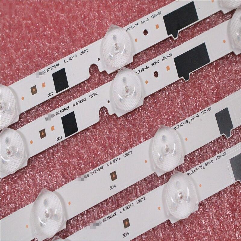 New100% 14 Pieces(7R+7L) UA40F5000ARXXR UA40F6300AJXXR LED strip for SAMSUNG 2013SVS40F L8 L5 D2GE 400SCA R3 D2GE 400SCB R3-in Industrial Computer & Accessories from Computer & Office    2