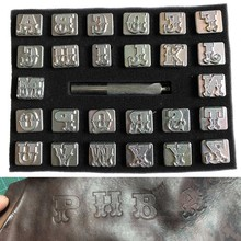 Горячая резьба Кожа Искусство Алфавит штампы буквы ручной работы прочный металл DIY инструмент FQ-ing