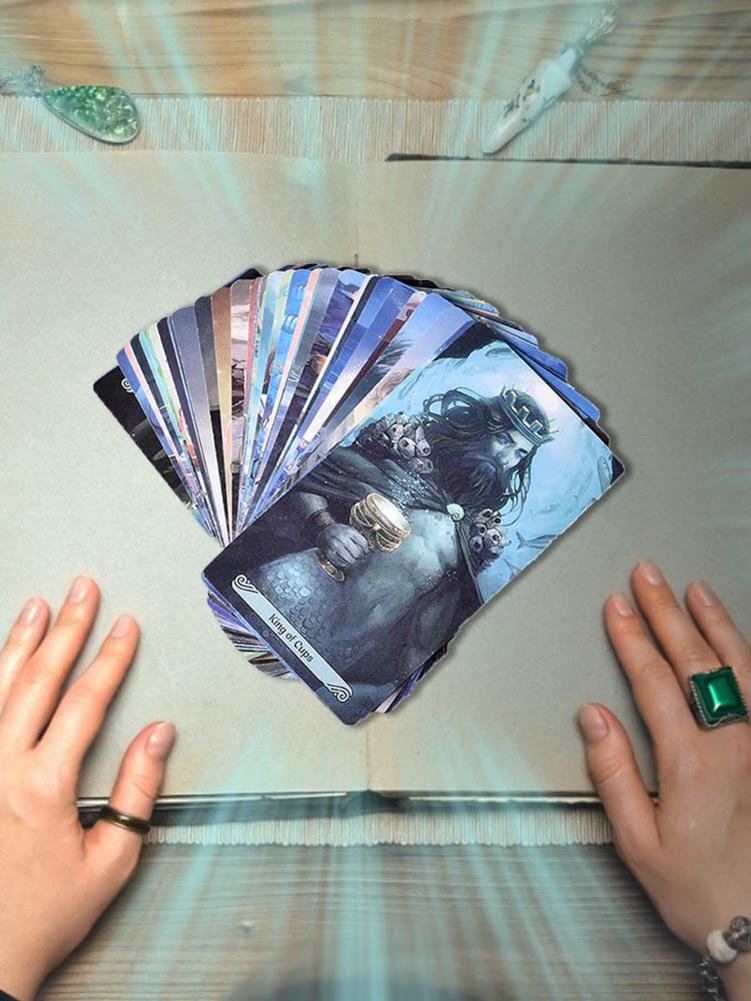78 Pcs/set Tarot Cards All English Version Boxed Playing Card Tarot Mermaid Tarot Board Games Cards 10*7.5*2.5cm