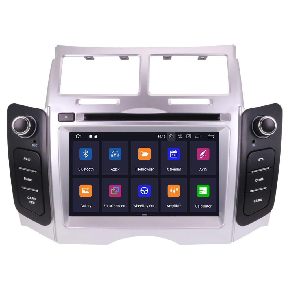 Android 10,0 Auto-DVD-Stereo Multimedia Steuergerät für TOYOTA YARIS 2005-2011 Auto PC Radio GPS Navigation Video Audio auto gps navi