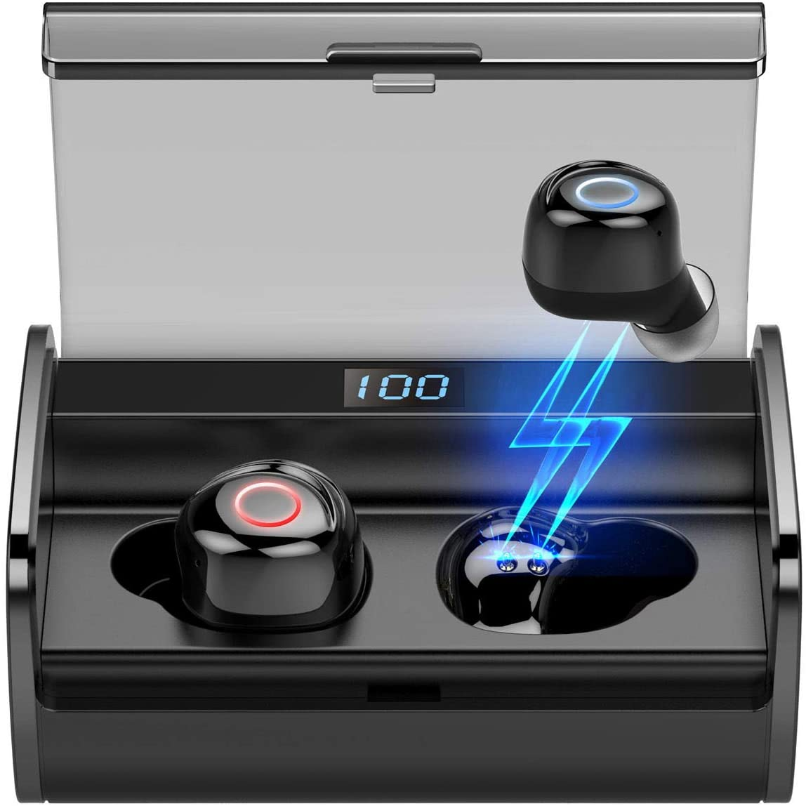 Наушники-вкладыши EZEAR X12 TWS, 2200mA, спортивные беспроводные наушники, портативная гарнитура Bluetooth 5,0, 90 часов, IPX8 водонепроницаемые наушники