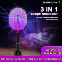 3 IN 1 LED Moskito Mörder Lampe 3000Volt Elektrische Bug Zapper Insekten Mörder USB Aufladbare Anti Moskito Fliegt Fly klatsche Falle