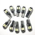 10 светодиодный т. T10 светодиодная белая лампа боковая лампа для автомобиля Canbus без ошибок номерной знак лампа для автомобильного стайлинга ...