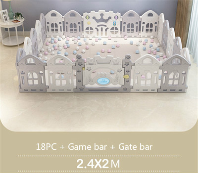 Free 10*Ball Child Baby Children Kid Playpen Play Pen Room 18 Poles//Bars Sided