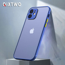 QIXTWO Luxury Matte Silicone Shockproof Phone Case For iPhone 11 12 Pro Max Mini X Xs XR 7 8 Plus SE 2 Camera Protective Cover
