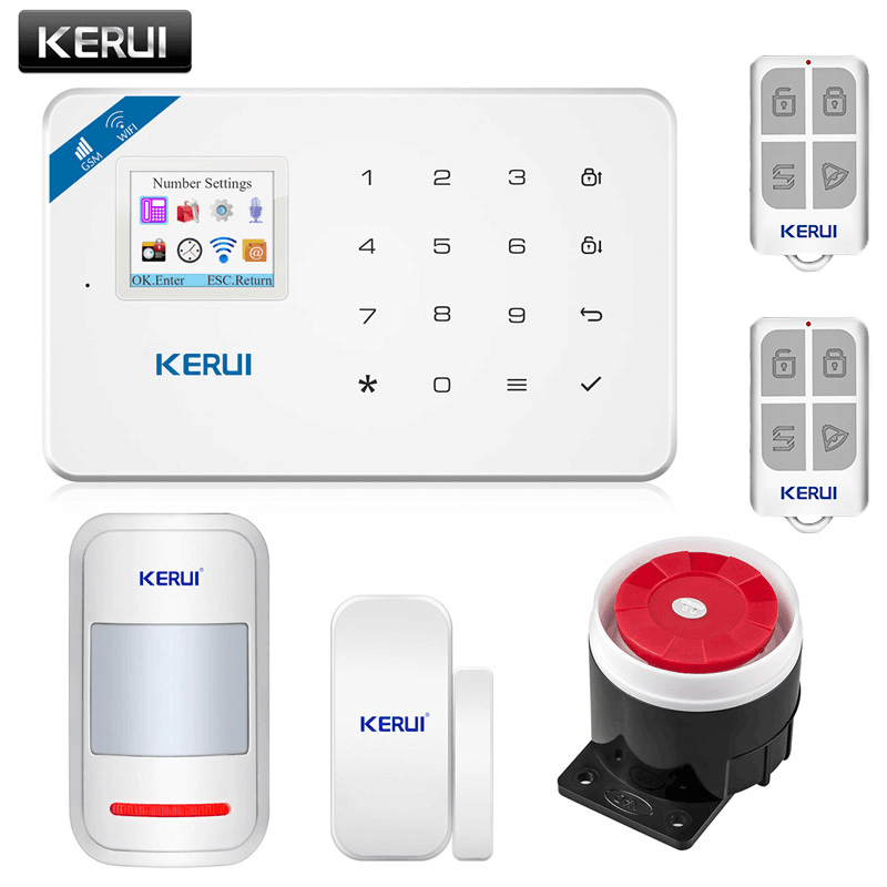 Home Security Alarm Host APP Remote Control KERUI W18 WIFI Wireless GSM Alarm System Eas Kit Home Security Alarm Host With Siren