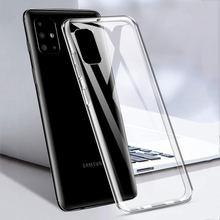 Прозрачный мягкий чехол из ТПУ для Samsung Galaxy A51, A71, A81, A91, A01, A11, A21, A31, Тонкий силиконовый чехол A 51, A71, A51, A515F, A715F, 01, 11, 21, 31