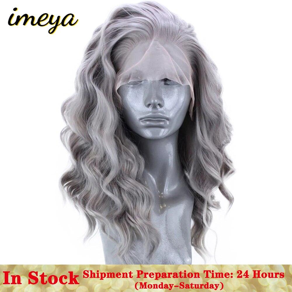 Peruca de cabelo de fibra de alta temperatura sintética para as mulheres perucas parte natural do cabelo do laço da parte dianteira