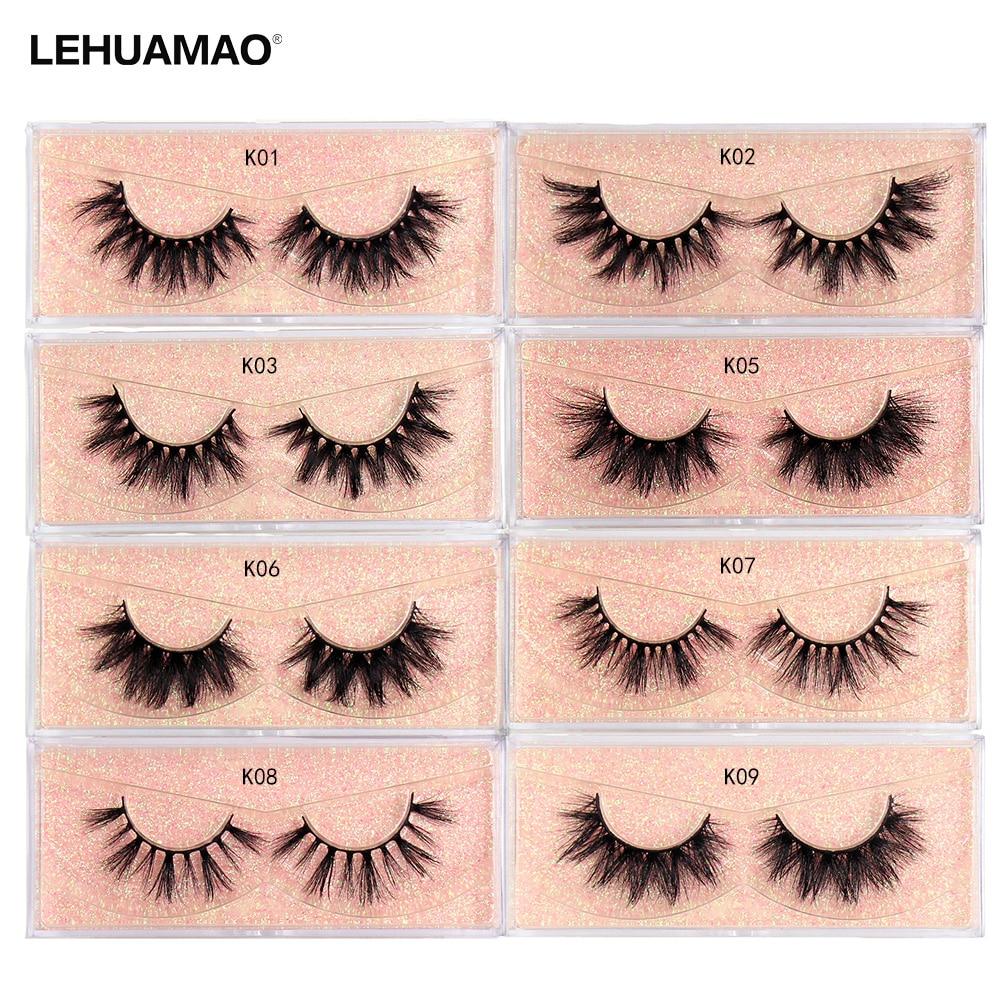 LEHUAMAO Makeup Mink Lashes 3D Mink Eyelashes 100% Cruelty Free Lashes Handmade Reusable Soft Natural Eyelashes Dramatic Lashes