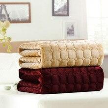 VESCOVO бархатный матрас Топпер теплый коврик для кровати для школьного общежития кровать королева двойной размер