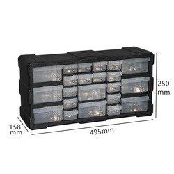 Multi-Grid Cassetto Tipo di Cassetta Degli Attrezzi Scatola Delle Parti Componente Strumento di Caso Building Blocks Scatola di Immagazzinaggio Vite 4 di Colore