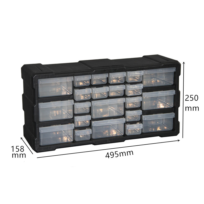 Multi-grid Drawer Type Toolbox Parts Box Component Tool Case Building Blocks Screw Storage Box 4 Color