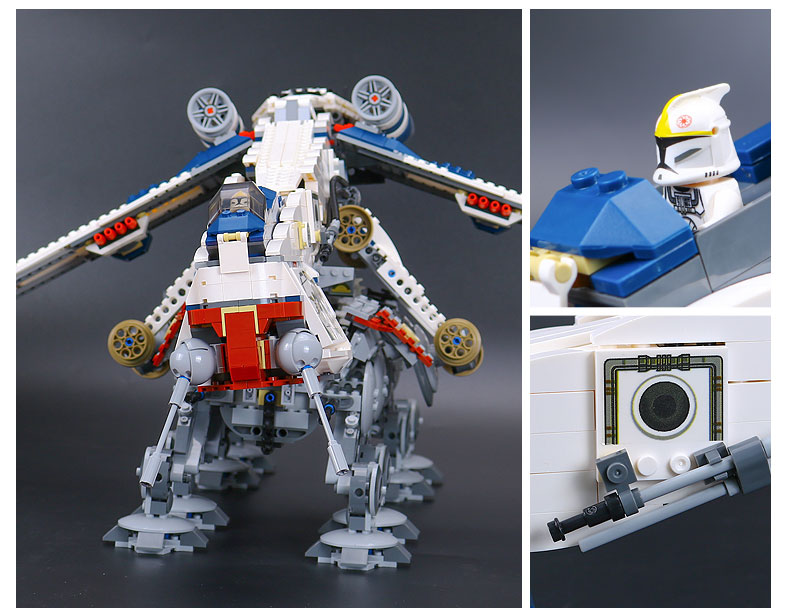 DHL 05053 Star Series Wars the Republic Drop-ship with AT-OT Walker Building Blocks Toy compatible LegoINGlys 10195 1