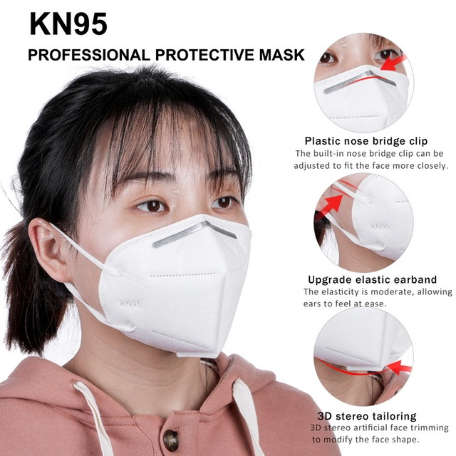 10pcs KN95 Ship From CZ Mask 5 Layer Flu Anti Infection N95 Protective Masks Ffp2  PM2.5 Safety Same As KF94 FFP3 3