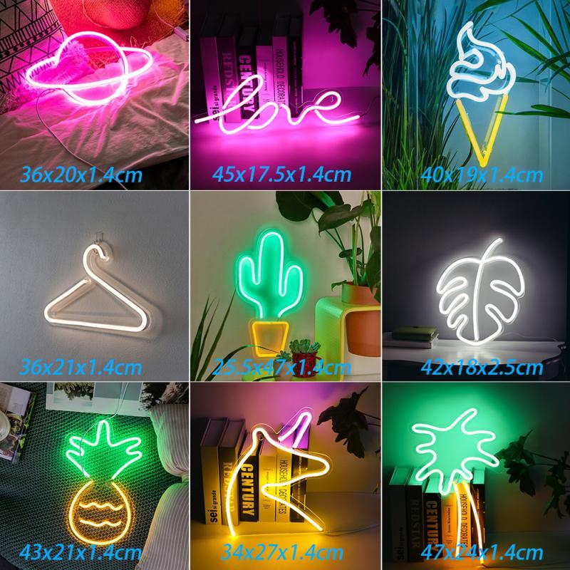 LED Neon Licht Banana Neon Zeichen Kunst Wand Dekorative Neon Lichter für Zimmer Wand Geburtstag Party Bar Decor Shop Fenster wand Hängen