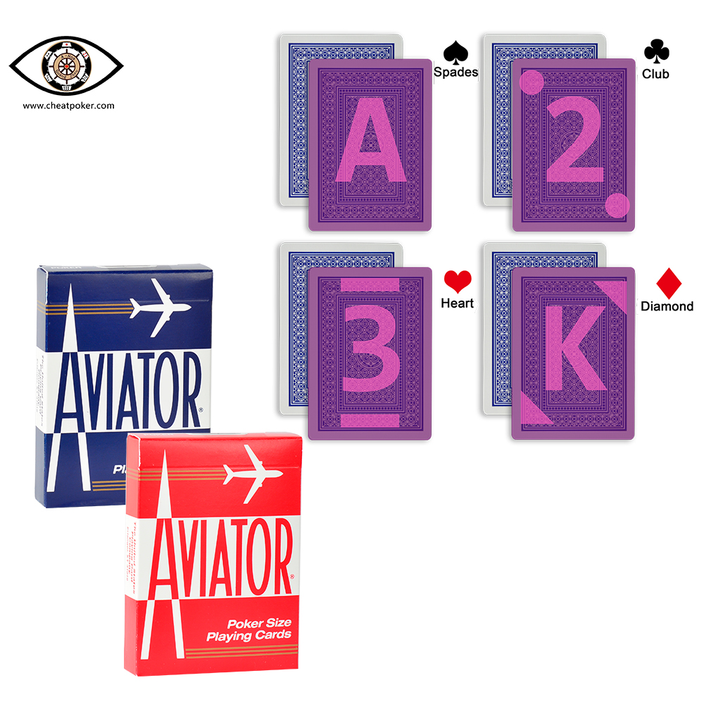 AVIATOR Marked Cards For Contact Lenses,American Original Imported Playing Cards,magic Invisible Infrared Marked Cheat Poker