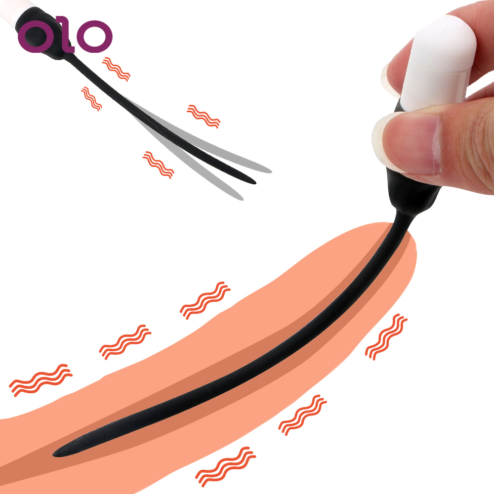 OLO 7 Frequency Insertion Urethral Plug Catheter Penis Plug Adult Products Sex Toys For Men Vibrator Urethral Dilators Silicone