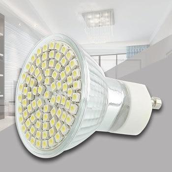 Led Bulb 220V 60*SMD White Light GU10 Practical Spotlight 120 Shops Pure Day фото