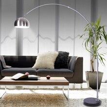 Stainless Steel Floor Lamp Creative Fishing Standing Lamp Light Fixtures for Living Room Bedroom Study Home Decor Floor Lighting