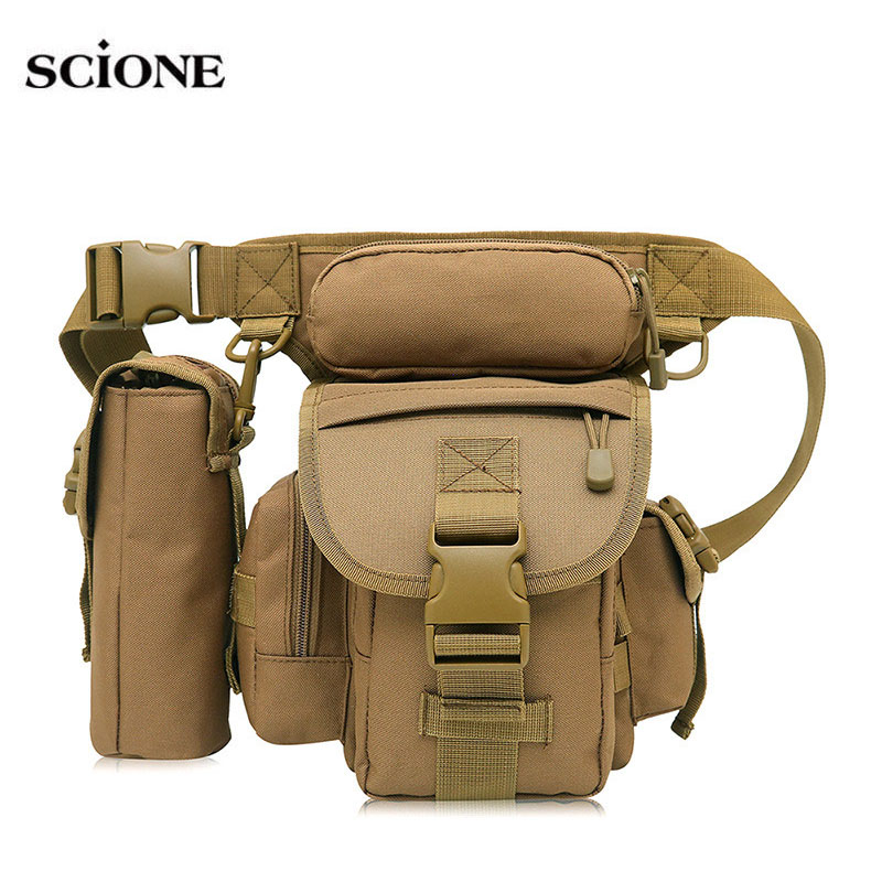 Men Drop Leg Bag Waist Bags Fanny Pack Belt Hip Bum Military Shoulder Bags Backpack Tactical Camping Molle For Men Camo XA689WA