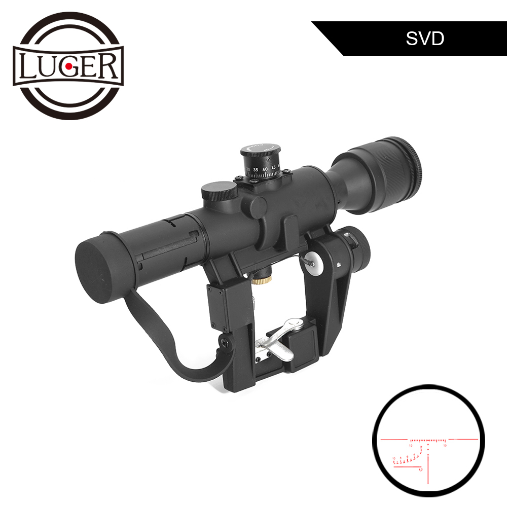Tactical 4x26 Dragunov SVD Sight Scope Red Illuminated PSO-1 Type Riflescope Sniper Rifle Series AK Rifle Scope For Hunting