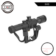 Tactische 4X26 Dragunov Svd Sight Scope Rode Verlichte PSO-1 Type Riflescope Sniper Rifle Series Ak Rifle Scope Voor jacht(China)