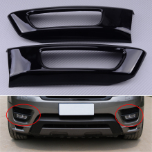 Trim Land-Rover Fog-Light-Cover Car Sport Black ABS Front Gloss Fit-For