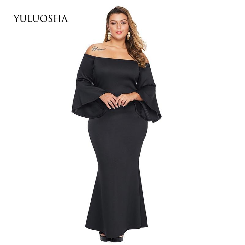 YULUOSHA Plus Size Bride Mother Dress Women Dress A-Line Vintage Dinner Dress Mother of The Bride Dress Vestido Azul Marino