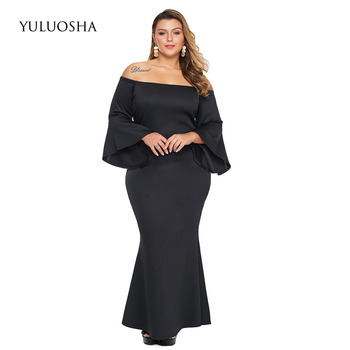 YULUOSHA Plus Size Bride Mother Dress Women Dress A-Line Vintage Dinner Dress Mother of The Bride Dress Vestido Azul Marino фото