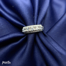 Classic-Ring Diamond 925-Sterling-Silver High-Quality Wedding-Jewelry D-Color Women Real