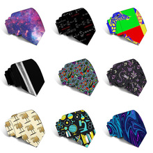 New Fashion Classic 3D Printed Men's Tie Wedding Party Business Slim Polyester Tie 8cm Width Jacquard Woven Neckties For Men fashionable purple plant jacquard 8cm width tie for men